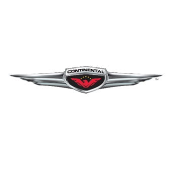 Continental Motors Inc Logo white