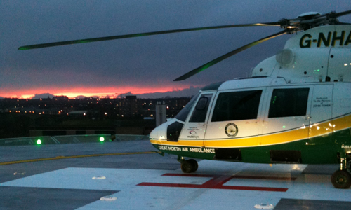 Great North Air Ambulance Helipad