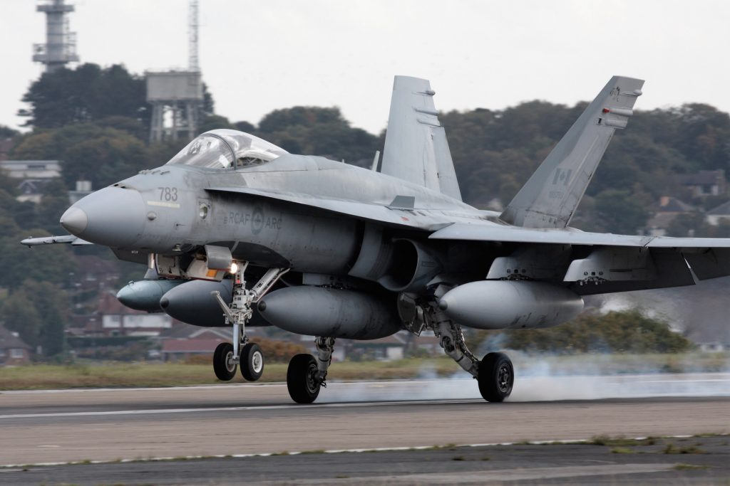 Canadian fighter jets call at Multiflight