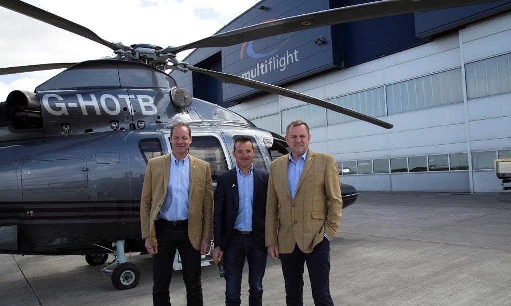 Tour de Yorkshire charter first outing for Multiflight's new VIP Airbus H155B1 helicopter