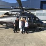 Absolute delight at surprise 50th birthday helicopter flight