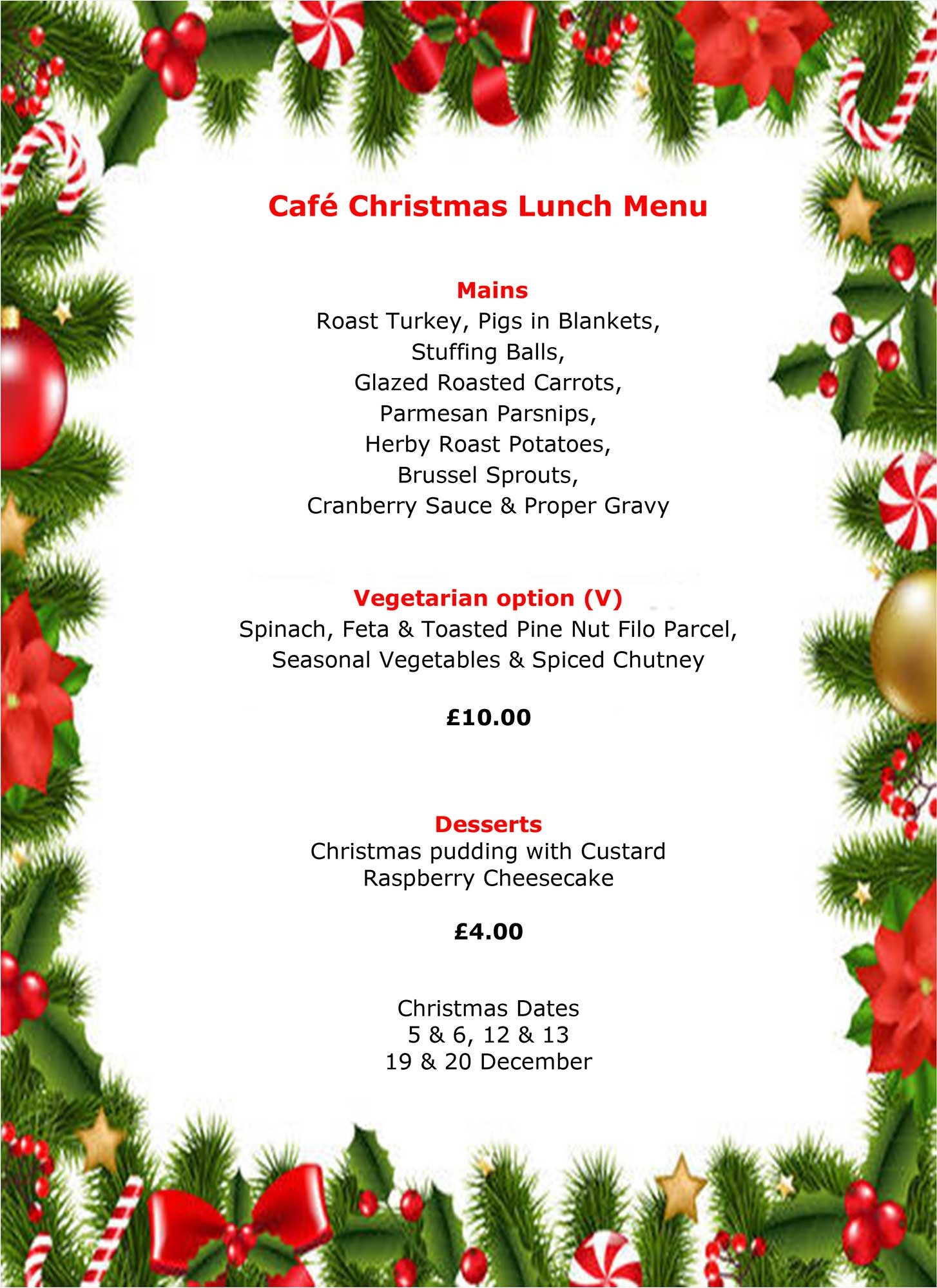 Two-course Christmas lunch at Multiflight Café just £14 ...