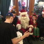 Multiflight helicopter flies in Santa for children's hospice Christmas surprise