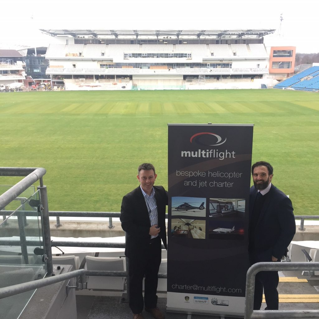 Multiflight sponsorship of Yorkshire County Cricket Club takes off for another year