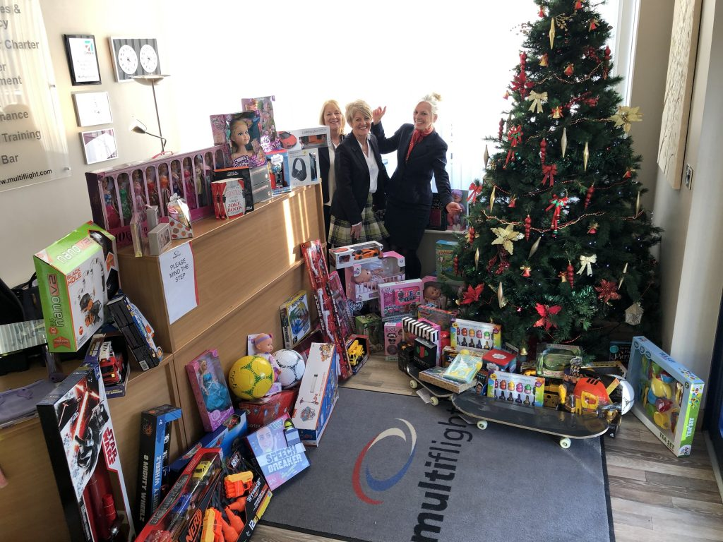 Fantastic support from Multiflight staff for Mission Christmas 2019!